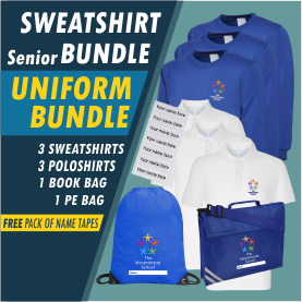 Bundle offer of 3 V Neck Sweatshirts & 3 Poloshirts - includes FREE name tapes!